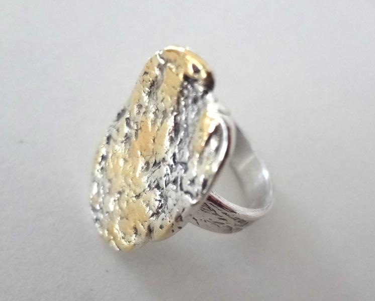 Ring-teilvergoldet